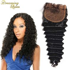 (42.12$)  Watch here - http://aik1l.worlditems.win/all/product.php?id=32570539813 - 7A Grade Brazilian Deep Wave Closure Silk Base Deep Wave Closure 3 Part Silk Closure Swiss Lace Top Closure Deep Wave Brazilian