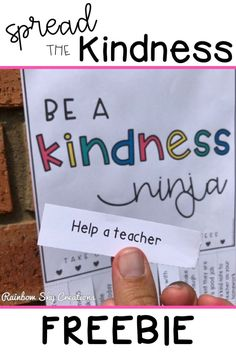 The KINDNESS CAMPAIGN to spread kindness around your school. This free resource includes a set of 10 tear-off flyers to pin up around your school, classroom or local community to encourage random acts… Kindness For Kids, Teaching Kindness, Kindness Activities, Random Acts Of Kindness Ideas For School, Kindness Elves, Mindfulness Activities, Kindness Rocks, Kindness Matters, Kindness Quotes