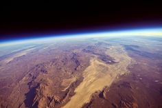 The Black Rock Playa in Nevada taken from a balloon 15 miles up ~ Photo by...lacomj©