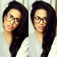 cute hair and glasses!