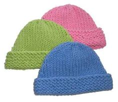 Very Easy Knitting Patterns | Free&Easy Knitting Beanie Pattern