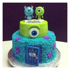 Monsters Inc Baby Shower Theme Should Start With the Invitations : Monsters Inc Baby Shower Cake. Monsters inc baby shower cake. monsters inc baby shower ideas,monsters inc party decorations,monsters inc theme party ideas 2 Birthday, Monster 1st Birthdays, Monster Inc Party, Monster Birthday Parties, Birthday Ideas, Monster University Party, Fiesta Baby Shower, Baby Shower Fall, Baby Shower Cakes