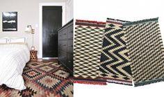 Estampados y alfombras para habitación étnica. Ideas decoración #dormitorios