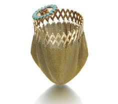 THE GOLD, RUBY, TURQUOISE AND DIAMOND PURSE, VAN CLEEF & ARPELS, NEW YORK, 1942