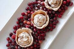 Mini Cranberry Meringue Pies by Chef Marc Murphy, wsj: A second life for extra cranberries! #Pie #Cranberry