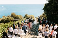 Ocean view terrace wedding