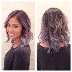 Brunette purple