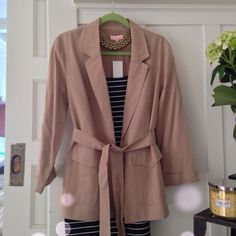 Gorgeous Tan Cargo Blazer