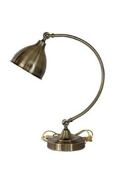 Glitz Vintage Table lamp, Antique metal shade, Round Style With heavy power lead switch, Socket.
