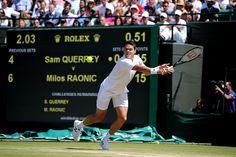 Milos Raonic takes on Sam Querrey on No.1 Court