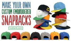 Custom embroidered hats and caps are a breeze to design and order at Nublank.com