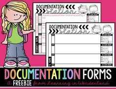 You are downloading a documentation form to keep track of behaviors (positive or negative) for each child in your classroom.  These have been a life saver for me this year!  Copy them onto light colored paper and stick them in your data/evidence binder.