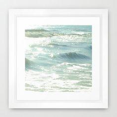 Ocean Photograph Aqua Blue Photography Sea by KalstekPhotography