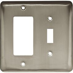 Brainerd Rounded Corner Single Switch/GFCI Wall Plate, Satin Nickel