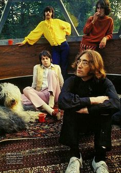 Ringo is rocking the yellow ..and Paul just looks sad
