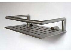 SHOWER SHELF 1 Designer: Bønnelycke mdd Material: Stainless steel Finish/color: Brushed/Polished #bathroom #accessories