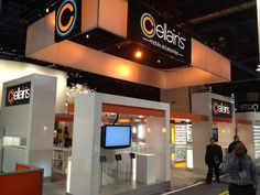 Cellaris Overhead Hanging Signage - with Backlighting for the Consumer Electronics Show (CES). #tradeshow