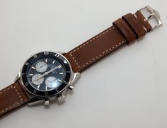 Racing Black Leather Strap In 22mm Tag Heuer Style With Holes Latest Technology Jewelry & Watches
