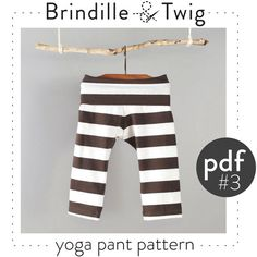 Baby yoga pant sewing PATTERN pdf download 03T by brindilleandtwig, $7.50