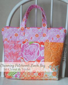 Clover & Violet —   Charm Madness – Charming Patchwork Lunch Bag {Tutorial}