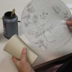 2-D to 3-D: Using Image Transfer and Mishima Techniques to Make Drawings on Pottery