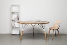 Stammtisch table + Stammtisch chair, design Alfredo Haeberli for Quodes
