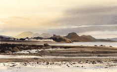 Cricieth from the Dwyfor, an original watercolour painting by Rob Piercy