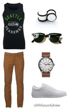 Untitled #239 by ohhhifyouonlyknew on Polyvore featuring '47 Brand, Urban Pipeline and Ray-Ban