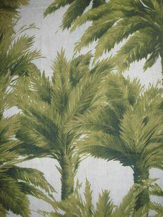 Des papiers peints d'ete :Papier peint Mauritius, (Pierre Frey).