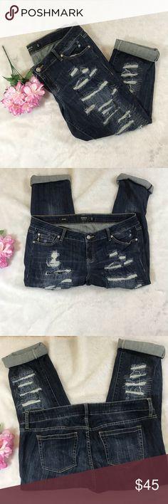 Torrid Distressed boyfriend Jeans Torrid Jeans Size 18 Boyfriend cut Bottoms can be unrolled torrid Jeans Boyfriend