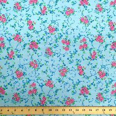 Amanda Blue Print Broadcloth