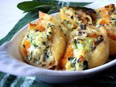 Butternut Squash, Ricotta & Spinach Stuffed Shells