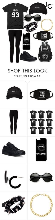 """Suga (BTS)"" by legacy-sinister ❤ liked on Polyvore featuring Barbara I Gongini, Converse, L. Erickson, ZeroUV and Laundry by Shelli Segal"