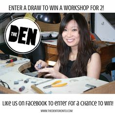 Like us on @Facebook for a chance to win a workshop for two! #DIY #playingwithfire #jewelry