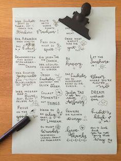 Letter Lovers fraeulein_kalt: Anleitung für Glückskekse mit Lettering - Sprüche aufschreiben