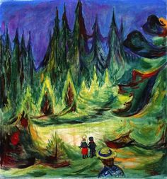 Edvard Munch, The Enchanted Forest on ArtStack #edvard-munch #art