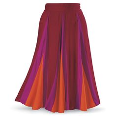Fire Midiskirt - New Age, Spiritual Gifts, Yoga, Wicca, Gothic, Reiki, Celtic, Crystal, Tarot at Pyramid Collection