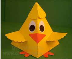 Adorable Chick Boxes from a pyramid die cut.