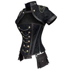 Corset Steampunk, Costume Steampunk, Mode Steampunk, Style Steampunk, Victorian Corset, Steampunk Clothing, Steampunk Fashion Women, Steampunk Outfits, Steampunk Jacket