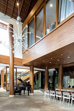 Inside the stunning property are cozy areas, a spacious garden, and pieces that speak of comfort and luxury Cozy Living, Living Area, Willie Revillame, Tropical Houses, Cebu, Traditional House, Filipino, Ph, Pergola