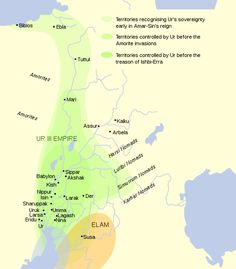 Third Dynasty of Ur/Neo-Sumerian Empire Ancient Mesopotamia, Ancient Civilizations, Ancient Aliens, Ancient History, Sumerian King List, E 500, Jesus Christus, Ancient Near East, Historical Maps