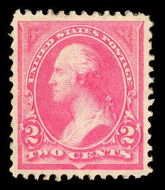 2-cent Washington stamp from the First Bureau Issue; 1894.