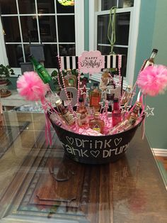 Drink, Drank, Drunk! 21st birthday liquor bouquet! More