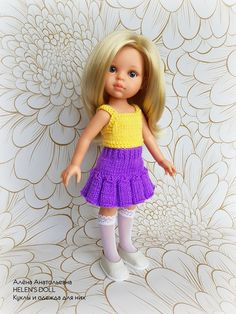 Knitting Dolls Clothes, Crochet Doll Clothes, Baby Born, American Girl, Crochet Top, Flower Girl Dresses, Couture, Wedding Dresses, Pattern