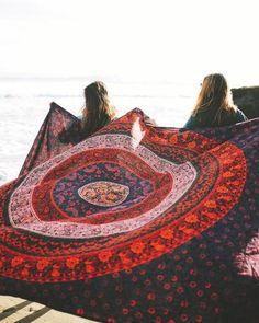 Multi-Colored Mandala Tapestry - The Bohemian Shop - 1