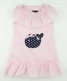 This Pink Stripe Whale Ruffle Yoke Dress - Infant, Toddler & Girls is perfect! #zulilyfinds