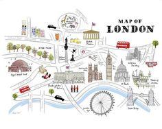 Map of London Kunstdruk