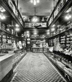 Inside a 1913 Drug Store
