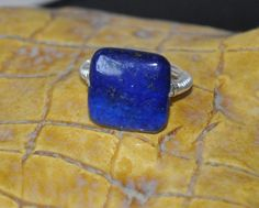 Wire wrapped ring  Lapis ring Gemstone Rings by jewelrybyirina, $19.50