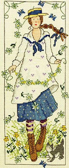 BOTHY THREADS COUNTED CROSS STITCH KIT - Country Lass Daisy - XCL5 - 12*29 cm